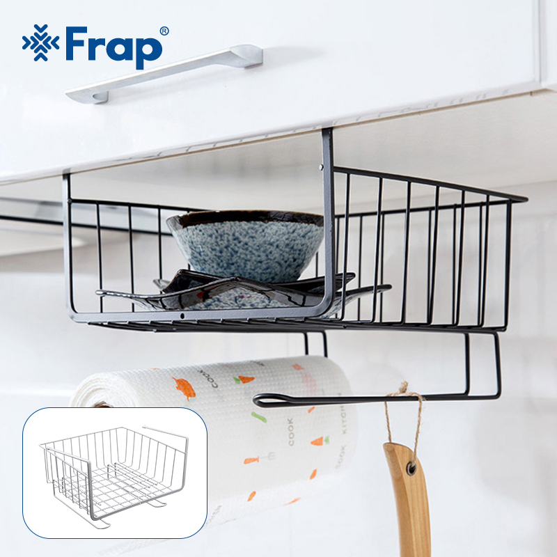 Kitchen Organizer Storage Shelf Rack Kitchen Cabinet Towel Dishes Rack For Kitchen Accessories Bathroom Table Hanger White Black