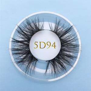 Image 3 - Bán buôn đặt hàng 50 cặp/lô logo tự do MIKIWI Hộp Tùy 24 Phong Cách mềm mại kịch tính kẻ Mắt 5D thực chồn tay dày lông mi