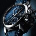 Switzerland LOBINNI мужские часы люксовый бренд автоматические часы для мужчин механические часы Сапфировая кожа relogio masculino 2019