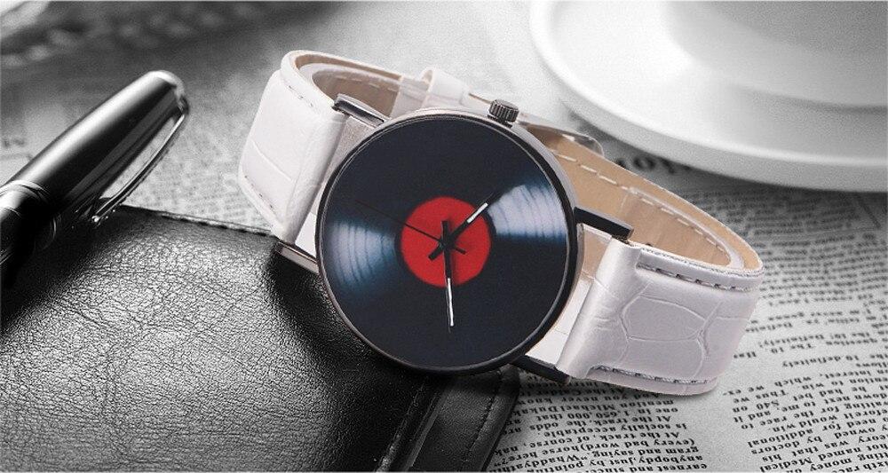 H9e61c10e744b4ca7a23dd139cd527bc1K 2020 Fasion Men's Watch Neutral Watch Retro Design Brand Analog Vinyl Record Men Women Quartz Alloy Watch Gift Female Clock NEW