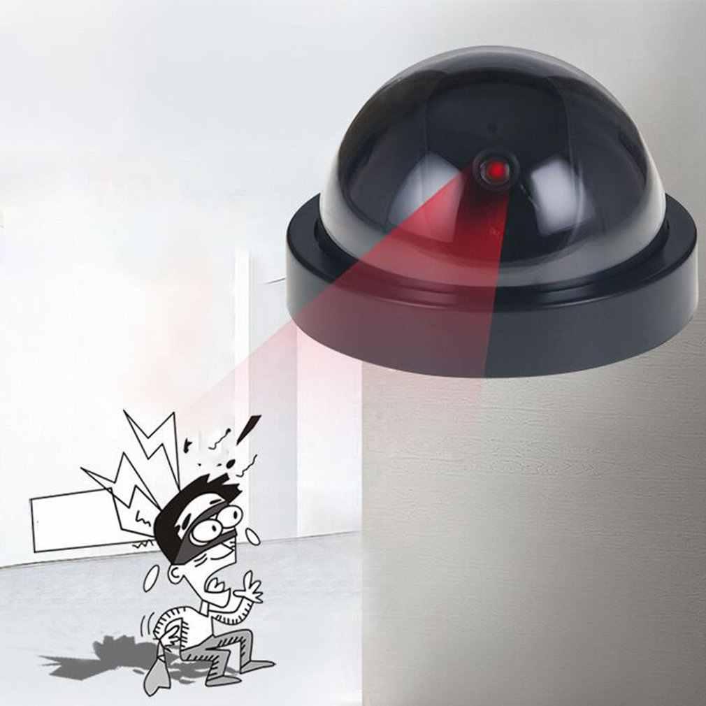 Dummyปลอมกล้องโดมในร่ม/กลางแจ้งกล้องจำลองจำลองการเฝ้าระวังความปลอดภัยภายในบ้านจำลองปลอมกล้องวงจรปิดCCTVพร้อมไฟLEDกระพริบ