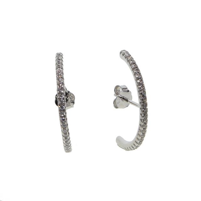 2018 simple lovely girl's earring gift fine 925 sterling silver long cz bar skinny bar classic minimal charming earrings stud 3