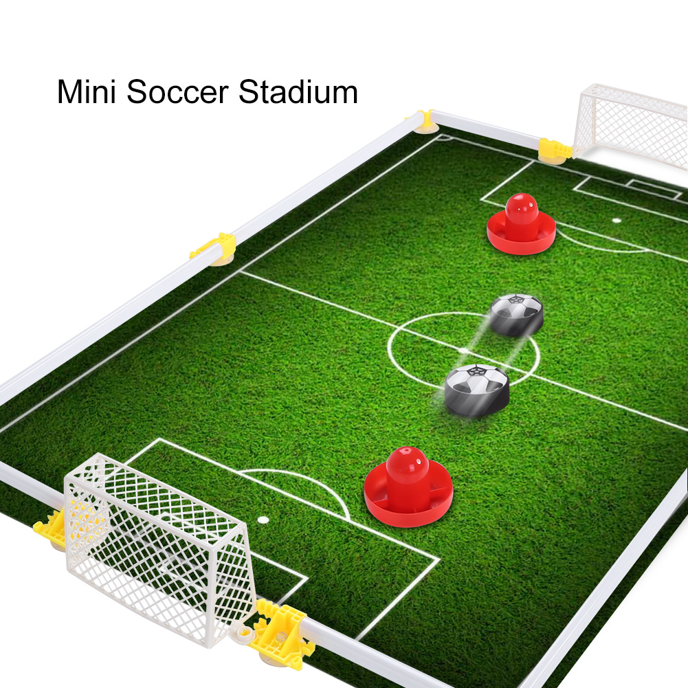 Floating Football Toys Air Power Soccer Disc Hovering Football Game Light Toy Flashing Ball Toys With Soccer Goals Training