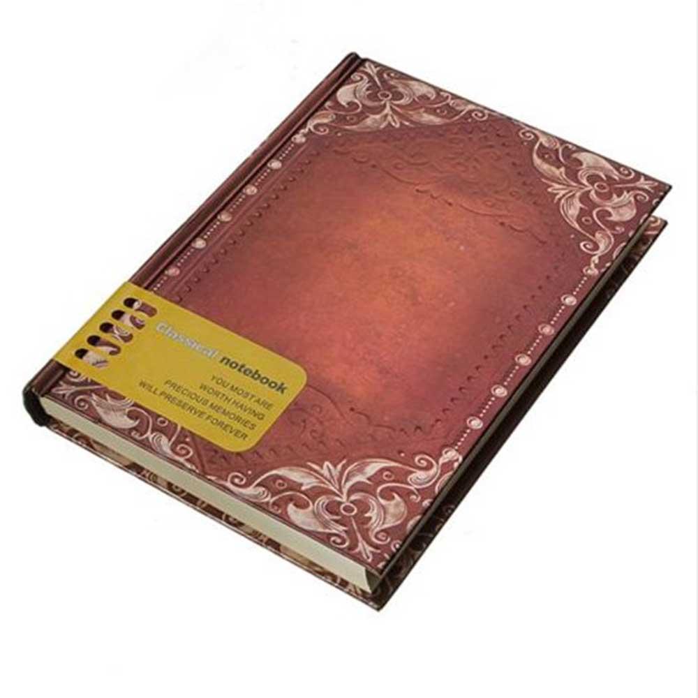 Retro Vintage Personal Notebook Daily Diary Journal Organiser Book School Office Use Dark brown