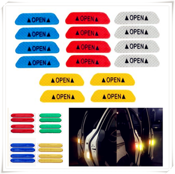 Car Door Open Reflective Tape Warning Night Sticker for Peugeot Jeep Harley-Davidson Buick Bentley Scania 6008 301 408 image