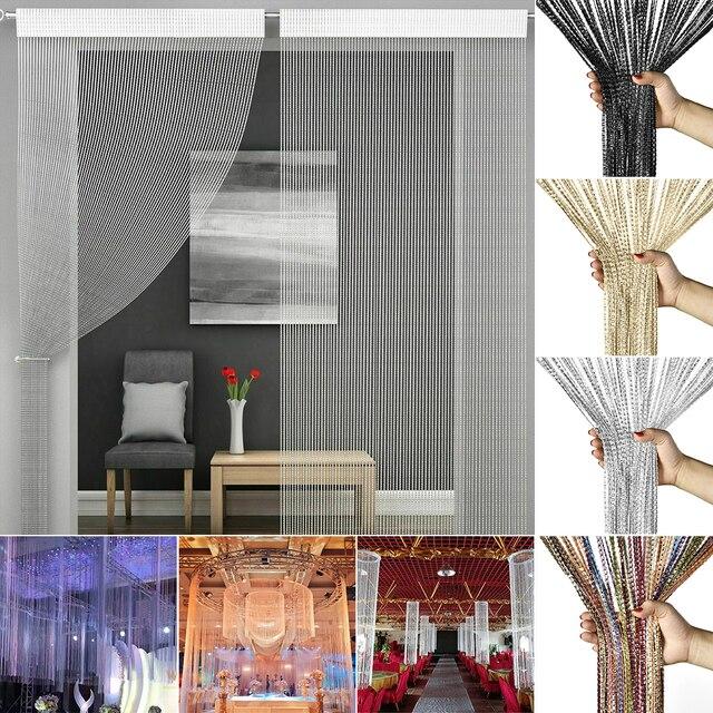 Shiny Tassel-Line Curtains 3