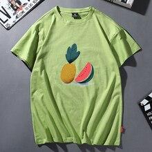 Camiseta con estampado de piña de verano 2020 para mujer, camiseta literaria de dibujos animados, divertida camiseta Vintage de manga corta, estética femenina