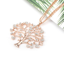 SA SILVERAGE Life Tree Necklace Creative Explosions of High Quality Love New Jewelry Europe and United States Heart Link Chain