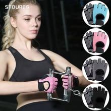 Ginásio profissional luvas de fitness luvas de levantamento de peso mulheres homens crossfit workout musculação luvas meia dedo mão protetor
