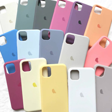 Official Original Silicon Logo Case For iphone se 2020 X XR XS Max 6 6s 7 8 12 mini Case For Apple iphone 11 pro max 12 pro Case