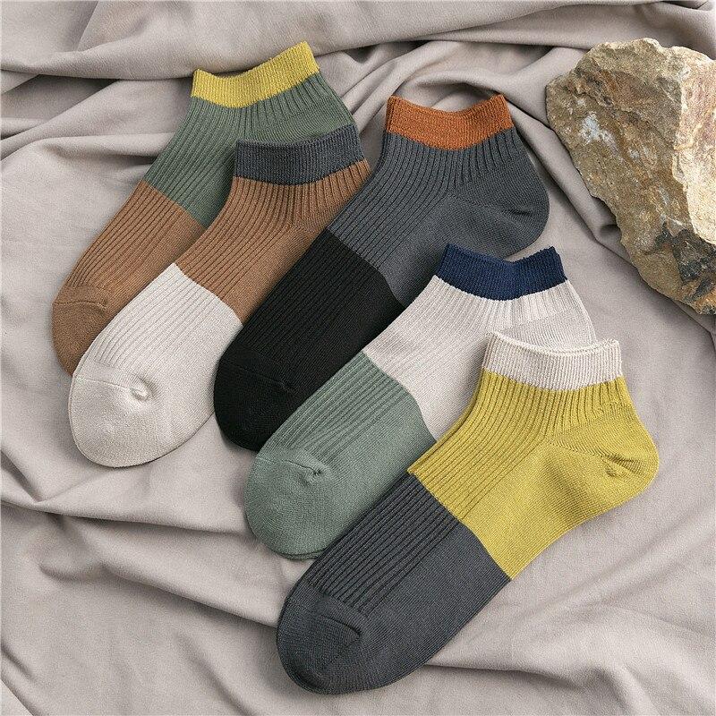 SP&CITY Japan Cotton Men Socks Cotton Soft Breathable Short Socks High Quality Summer Weekly Ankle Socks Funny Art Trendy