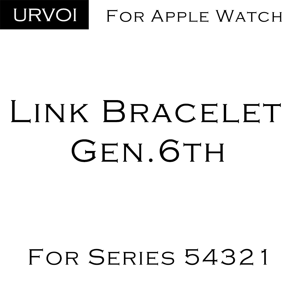 URVOI link bracelet gen.6th for apple watch series 5 4 3 2 1 strap for iWatch adjustable high quality stainless steel band | Fotoflaco.net