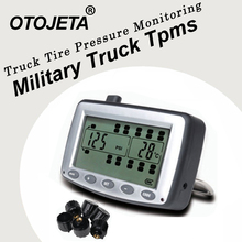 Military truck Tire Pressure Monitoring System Car TPMS 4 External Sensors for T