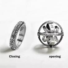 Vintage astronomiczne pierścienie kulkowe dla kobiet mężczyzn kreatywny kompleks obrotowy kosmiczny palec pierścień biżuteria jz516 tanie tanio TenJshunzhu Miedziane Unisex Metal TRENDY Obrączki ślubne ROUND as picture Zgodna ze wszystkimi ring Brak Na imprezę