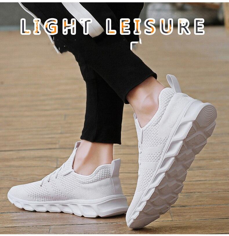 H9e62dce79bac427197a8f60b99ba9f93a Flyknit Men Shoes Light Sneakers Men Breathable Jogging Shoes for Men Rubber Tenis Masculino Adulto Plus 35 46 48