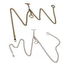 44 см Персонализированные Ретро винтажные металлические карманные часы цепочка классический античный подарок серебряный бронзовый цвет часы цепь для мужчин и женщин