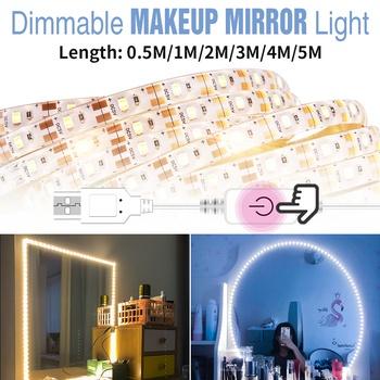 CanLing USB 5V lustro do makijażu żarówka Hollywood Vanity Lights makijaż ściemnialna toaletka LED kinkiet 6 10 14 zestaw żarówek tanie i dobre opinie CN (pochodzenie) W górę KİTCHEN Jadalnia Łóżko pokój Foyer Badania Łazienka Klin 12 v Dotykowy włącznik wyłącznik