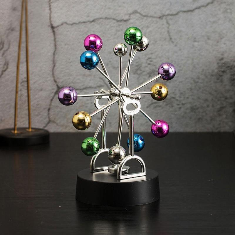 1PC Office Decoration Desktop Asteroid - Perpetual Motion Ferris Wheel Toy Magnet Education Tool Home Decoration Accessories