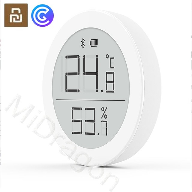 YouPin Clear Grass Bluetooth Temperature Humidity Digital Thermometer Moisture Meter Sensor LCD Screen Smart MiHome