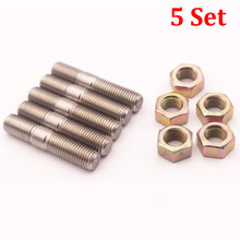5 Sets M10x1.25 Stainless Steel Stud Kit For Mitsubishi DSM 1G EVO1~10 Turbos Turbo