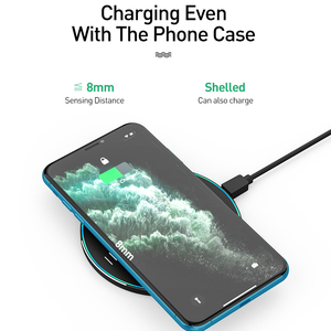 Image 3 - LED Breathing Light 10W Wireless Charger , ROCK Qi Fast Wireless Charging Pad For iPhone X XS 8 Samsung Xiaomi