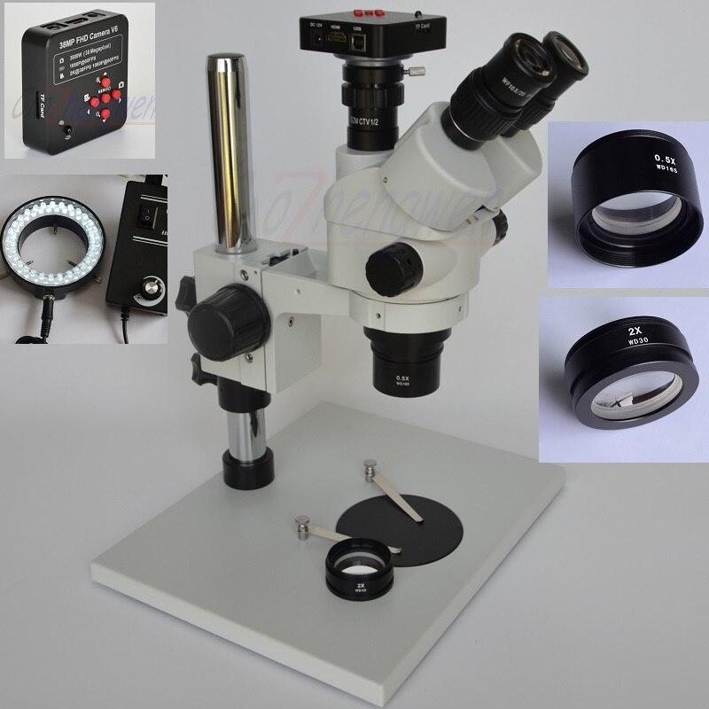 38MP Full HD 1080P 60FPS HDMI caméra de réparation de téléphone Mobile numérique 3.5X-90X Microscope Focal Simul