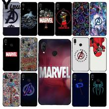 Yinuoda Marvel Avengers โลโก้ Iron Man Spiderman สำหรับ Xiaomi Redmi4X 6A S2 Go Redmi 5Plus Note4 note5 7 Note6Pro(China)