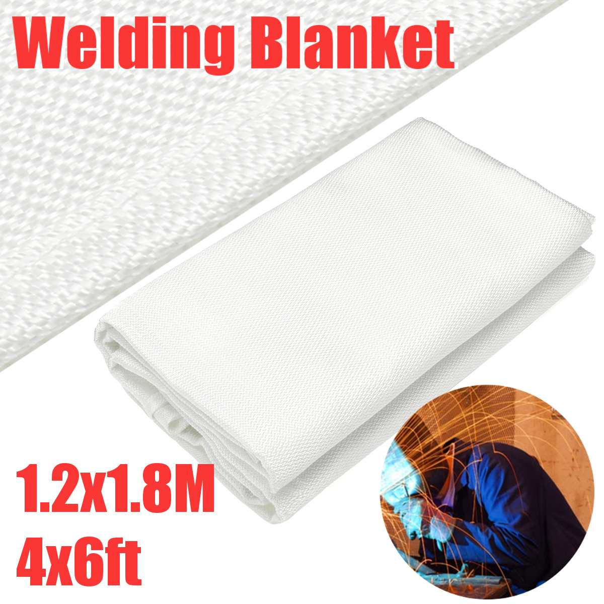 Fire Blanket Welding Blankets Fireproof Survival Escape Blanket High Temperature Resistant Heavy Duty Protective Emergency