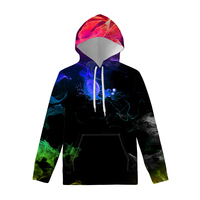 Polyester Hoodies with Colorful Hookah Print for Teen Girls Autumn Clothing O Neck Sweatshirts Women's Hoodie Custom Design 2019