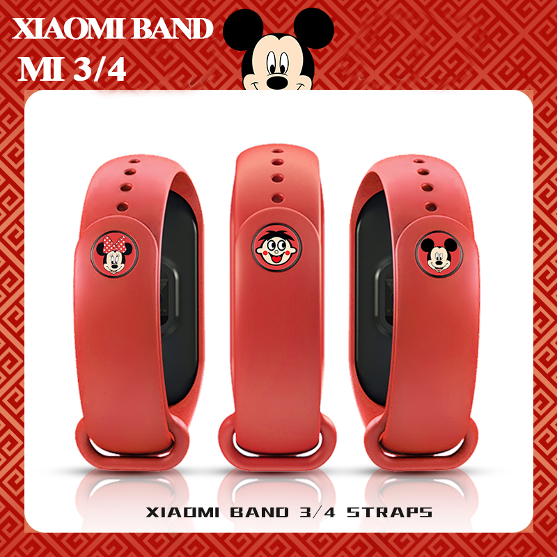 Cute Style Mi Band 4 Strap Replacement Bracelet  Xiaomi Miband 3 4 Original Silicone Colorful Flowers Wrist Strap For Mi3 Belt