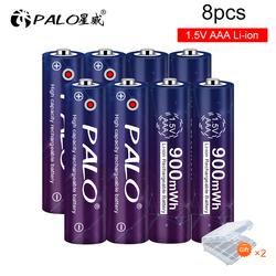 2-16pcs 1.5V AAA Rechargeable Lithium Battery 900mWh Constant Voltage li ion Li-ion Rechargeable AAA Battery for Toys Mp4 Clock