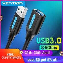 Tions USB Verlängerung Kabel USB 3,0 Kabel Männlich zu Weiblich USB 3,0 2,0 Extender Daten Kabel für Smart TV SSD PS4 USB Kabel Verlängerung