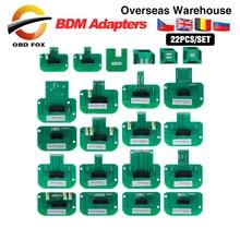 Için Dimsport BDM probu adaptörleri 22 adet/takım tam paket LED BDM çerçeve ECU rampası adaptörleri ücretsiz kargo