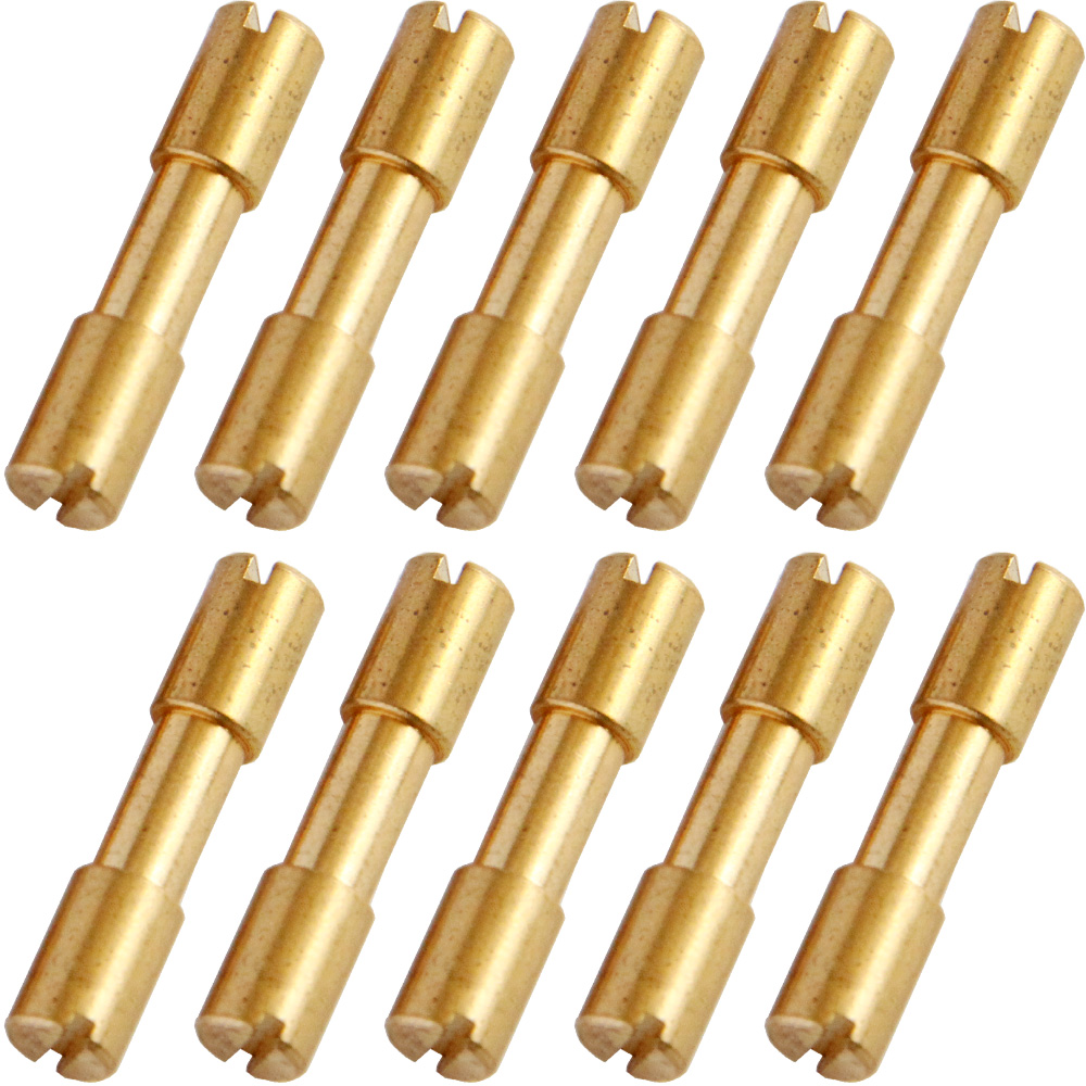 10pcs/lot Brass Corby Bolts Fastener DIY Knife Handle Screws Bolts Tactics Lock Rivet Knife Shaft Fastener