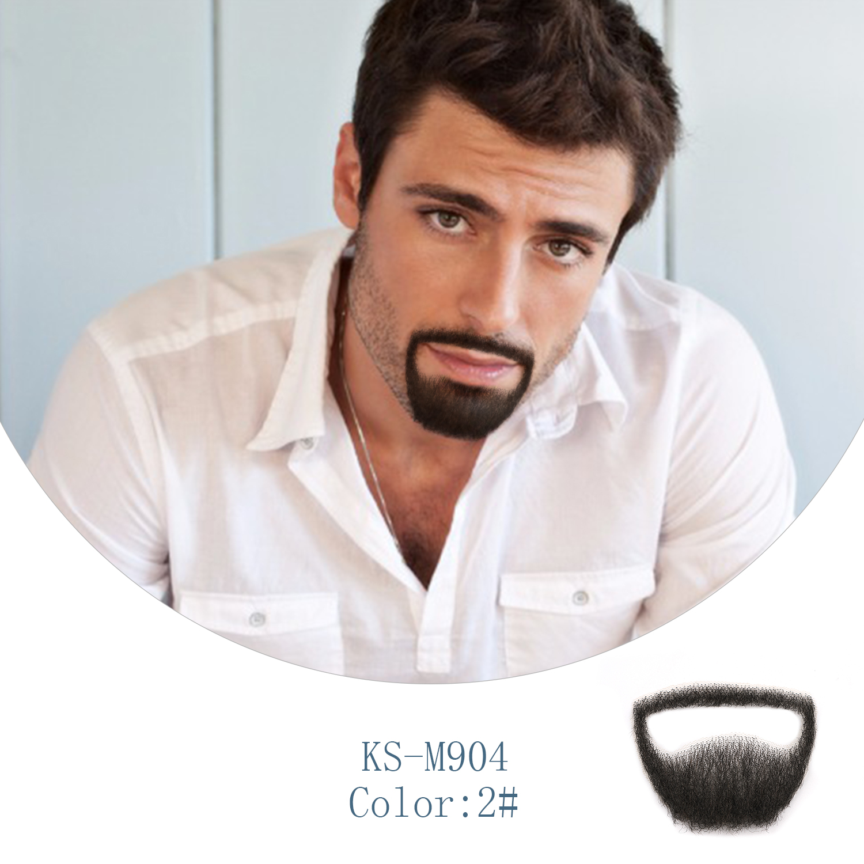 Neitsi Men's Lace Mustache 100% Handmade Human Hair Fake Beard 1 Piece Per Pack