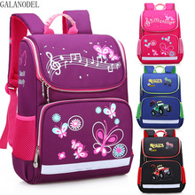 лучшая цена Boys and Girls Large Capacity Schoolbags Kids Backpack for Girls Bowknot with Car 2 Size School Backpack for Teenagers Book Bag