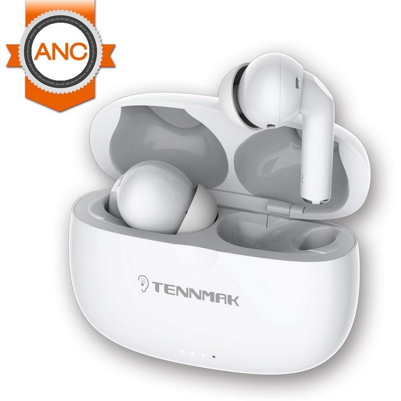 TWS ANC True Wireless активные шумоподавляющие наушники, наушники TENNMAK PRO-ANC Bluetooth, время воспроизведения 30 часов, Беспроводная зарядка