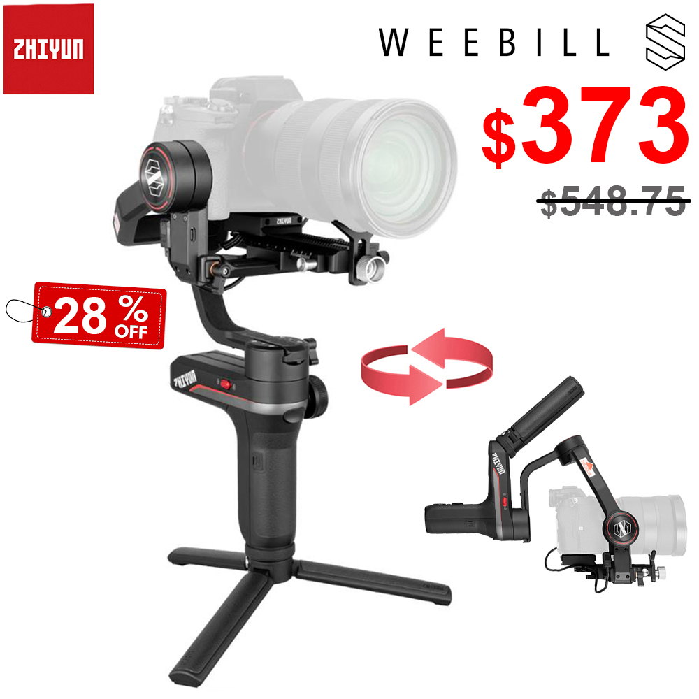 ZHIYUN Weebill S 3 Axis Wireless Image Transm Handheld Camera Gimbal Stabilizer for Sony Canon Mirrorless