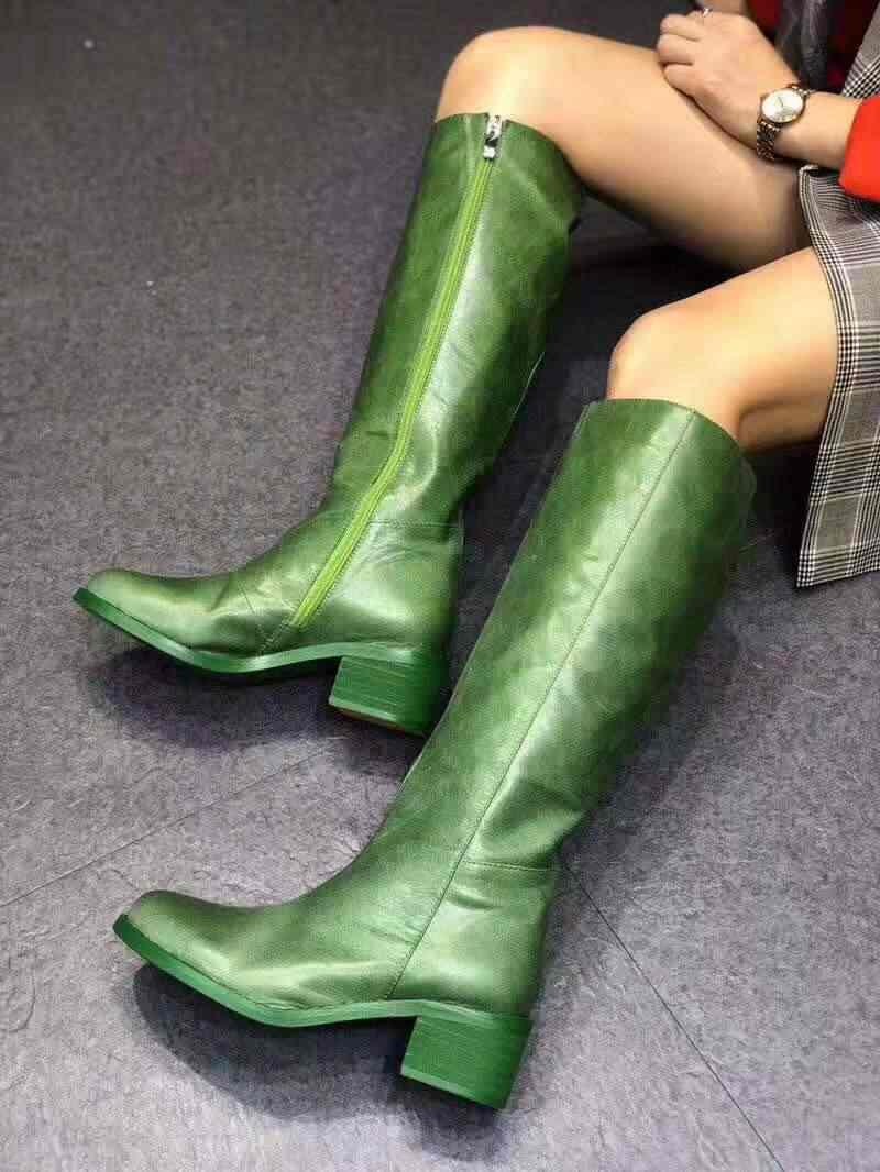 Vibsterimma Neue Rot Leder Knie Stiefel Frauen Echtes Leder Stiefel Reitstiefel Stiefel 4 Farben