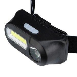 Image 3 - 1 шт. XPE LED COB светодиодный 6 режимный фар ремни регулируемые фары Перезаряжаемые Головной фонарь мероприятий на свежем воздухе Применение 18650 батарея