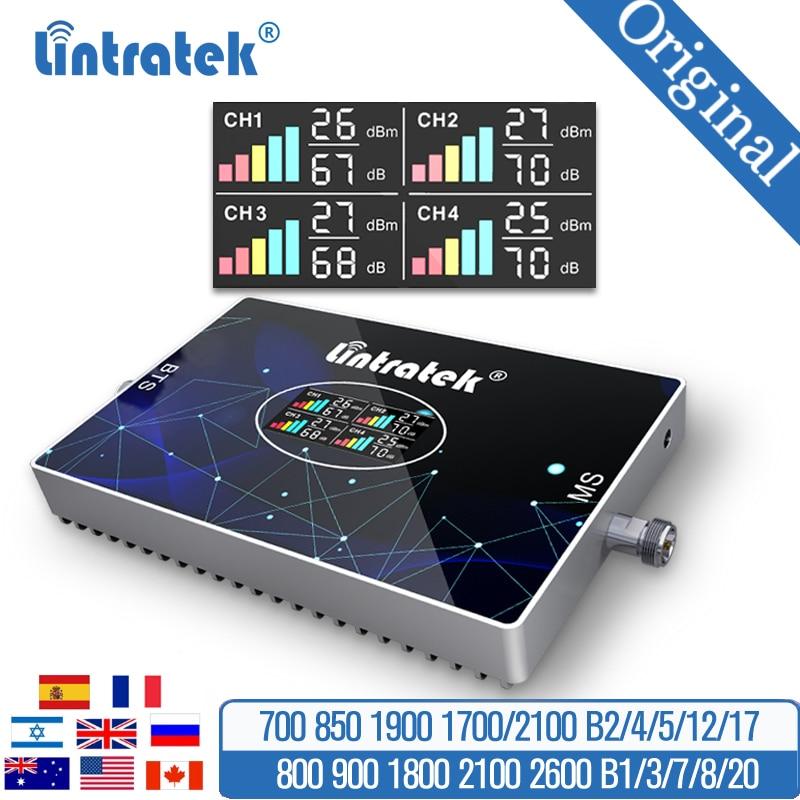 4G 3G 2G Сотовая связь усилитель сигнала 800/850 900 1800 2100 GSM усилитель сигнала мобильного телефона DCS WCDMA AWS 1700 шт. 1900 МГц lte-ретранслятор