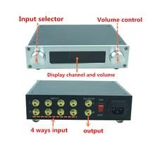 Préampli Conrol de Volume à distance Streo avec contrôleur de tonalité de basses aigus préamplificateur audio HIFI 4 en 1 pour ampli de puissance