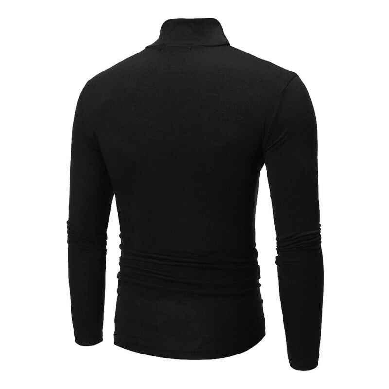 2019 신형 가을 겨울 남성용 스웨터 남성용 터틀넥 솔리드 컬러 캐주얼 스웨터 남성용 슬림 피트 브랜드 니트 풀오버