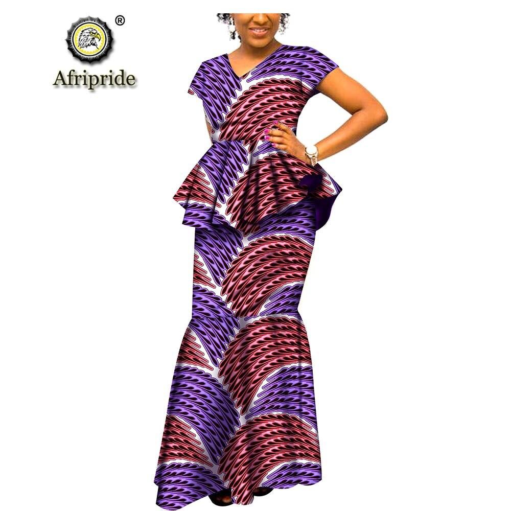 2019 robes africaines pour femmes dashiki AFRIPRIDE ankara imprimer décontracté femmes robe ankara imprimer cire batik printemps et automne S1825051