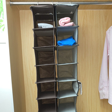 Ten-Layer Wardrobe Hanging Durable Clothes Storage Pocket Fabric Bag Shoe Hangers Holder Portable Organizer Cabinet