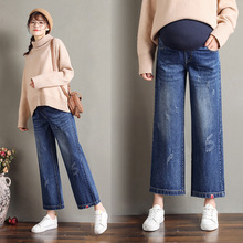 Autumn Winter Maternity Pants Pregnant Women Clothes Adjustable Waist Pregnancy Jeans Pants Denim Belly Jeans Trousers Plus Size [wheat turtle]brand maternity jeans pregnancy clothes denim overalls skinny pants trousers clothing for pregnant women plus size