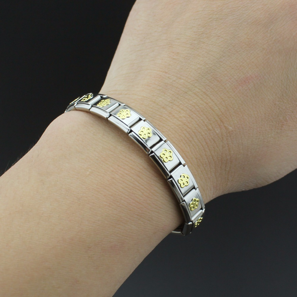 Hapiship Women Man Fashion Style Jewelry Heart Flower Butterfly Cross Dolphins Stainless Steel Elastic Bracelet Bangle ST00