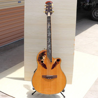 solid top ovation acoustic guitar with EQ with turner free hardcase stock guitar special offer