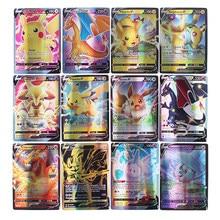 2021 pokemon cartão 200 v max 300 gx crianças batalha inglês versão tag equipe shinny vmax tensão vívida