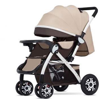 цена на Child Baby stroller lightweight Portable Rubber wheels pram prams Can sit and recline folding four-wheel shock absorber